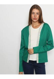 Casaqueto Floral - Verde & Branco - Maria Padilhamaria Padilha