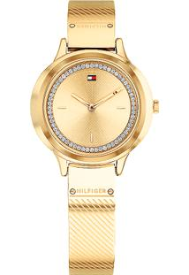 7dd4f9c20d3 Relógio Digital Dourado Tommy Hilfiger feminino