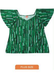 Blusa Verde Escuroabstrata