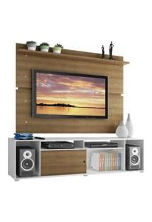 Rack Madesa Cancun E Painel Para Tv Até 65 Polegadas Branco/Rustic/Rustic