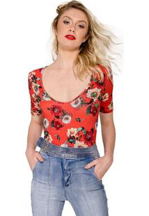 Body Estampa Floral Colcci