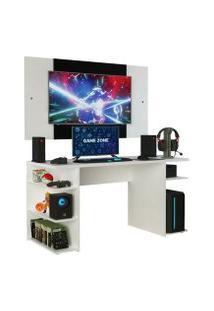 Mesa Gamer Madesa 9409 E Painel Para Tv Até 58 Polegadas Branco Cor:Branco