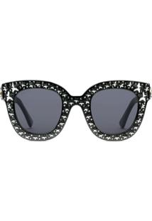 ... Gucci Eyewear Óculos De Sol Com Aplicação - Preto db6156fbe70