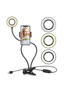 Luminária Abajur Youtuber Ring Light Suporte Celular Selfie