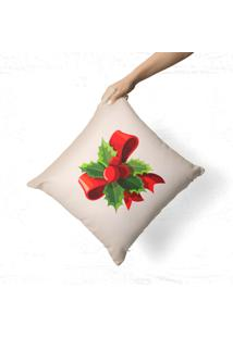Capa De Almofada Avulsa Decorativa Laço Natalino