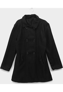 Casaco Plus Size Original Collection Lã Batida Feminino - Feminino