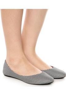Sapatilha Dafiti Shoes Xadrez Branco
