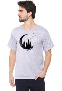 Camiseta Talismã Store Eco Canyon Lua Masculina - Masculino-Cinza