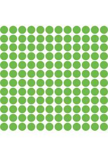Adesivo De Parede Bolinhas Verde Claro 144Un