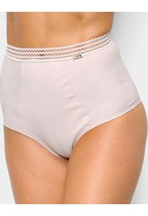 Calcinha Hot Pant Dilady Compact - Feminino-Nude