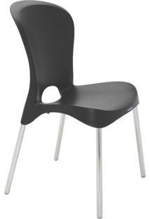 Cadeira Jolie- Preta & Prateada- 88X59X52,2Cm- Ttramontina