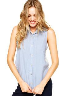 Camisa Maria Filó Listras Azul