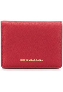 Dolce & Gabbana Carteira Pequena Com Logo - Vermelho