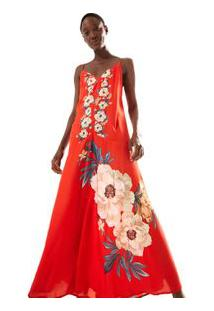 Vestido Cropped Floral Namibia Est Floral Namibia_Vermelho Aka