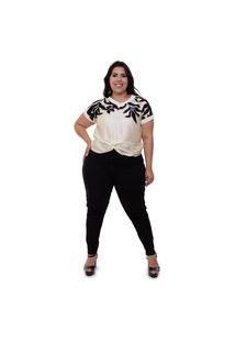 Blusa Plus Size Monica Multicolorido