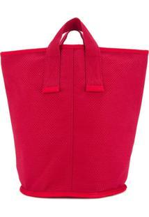 Cabas Bolsa Tote Média 'Laundry' - Vermelho