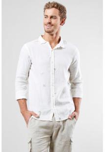 Camisa Regular Reserva Revoada Masculina - Masculino-Off White