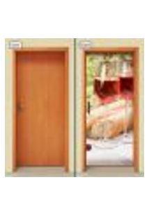Adesivo Decorativo De Porta - Vinho - 1255Cnpt