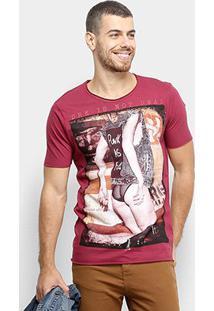 Camiseta Derek Ho Punk Lady Masculina - Masculino-Vinho