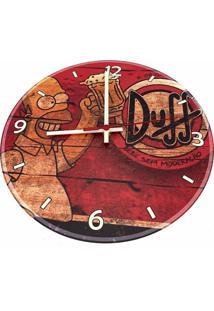 Relógio De Parede Decorativo Cerveja Duff Homer Simpson Único
