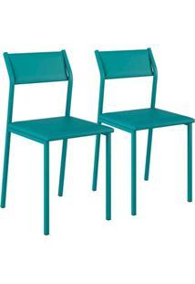 Cadeira Carraro 1709 Aço Color (2 Unidades) Turquesa