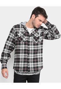 Camisa Xadrez Opera Rock Capuz Moletom Masculina - Masculino
