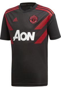 Camisa Pre Jogo Man Utd I Inf - Preta & Vermelha - Aadidas
