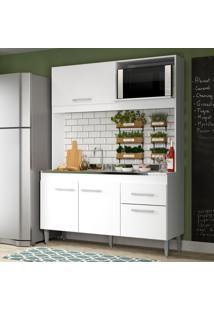 Cozinha Compacta Soluzione Sara 4 Portas E 1 Gaveta Branco