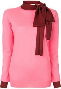 Marni Suéter Com Detalhe De Lenço - Rosa