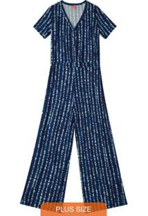 Macacão Azul Marinho Viscose