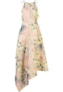 Ellery Vestido Assimétrico Galapogas Tie-Dye - Rosa