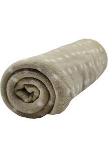 Cobertor Microfibra Camesa Poa - Marrom