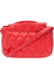 Bolsa Fiveblu Matelassê Coração Vermelha