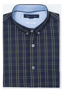Camisa Social Slim Em Oxford
