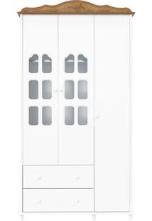 Guarda-Roupa 3 Portas Provence Branco E Teka Matic Móveis