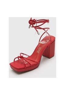 Sandália Santa Lolla Amarração Vermelha