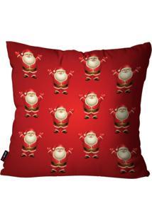 Capa De Almofada Pump Up Decorativa Avulsa Estampa Papai Noel 45X45Cm - Vermelho - Dafiti