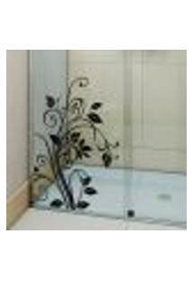 Adesivo Para Box De Banheiro Floral / Arabesco - Extra Grande