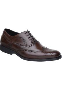 Sapato Oxford Malbork Couro Natural Solado Comfort - Masculino-Marrom