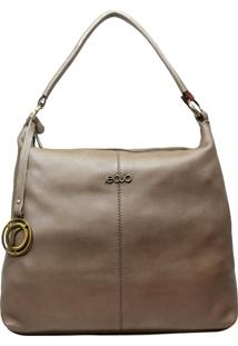 Bolsa De Couro Recuo Fashion Bag Hobo Cinza