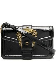 Versace Jeans Couture Bolsa Tiracolo Com Logo Na Fivela - Preto