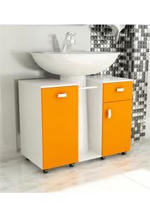 Gabinete De Banheiro Due Laranja Tomdo