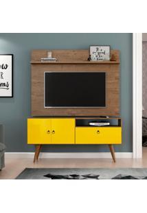 Rack Com Painel Para Tv De 46 Polegadas Topázio Demolição E Amarelo