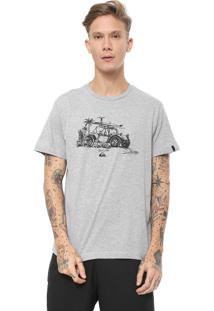 Camiseta Fit Simple Line Quiksilver Cinza