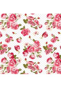 Revestimento Auto Adesivo Floral Rosas 45Cm Com 2 Metros