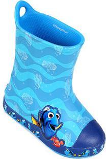 Bota Galocha Infantil Crocs Bump It Procurando Dory - Masculino-Azul Claro