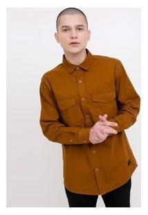 Camisa Com Bolso Em Sarja