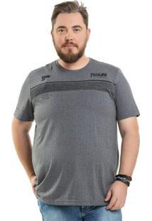 Camiseta Com Bordado Cinza Bgo Plus