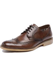 Sapato De Couro Viccini Brogue Tivoli-01 Conhaque