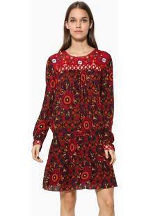 Vestido Curto Desigual Vermelha